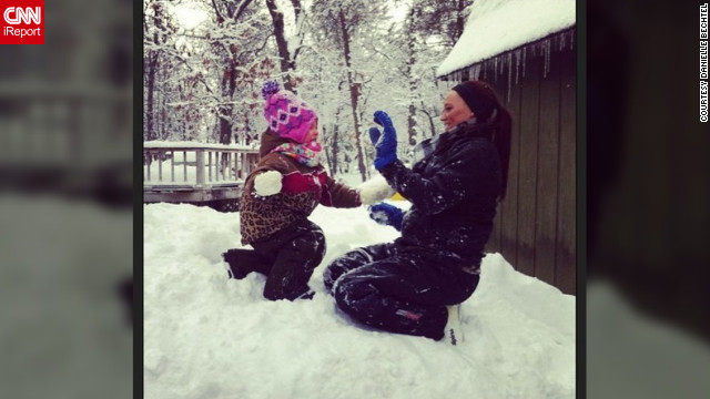 What better than a little snowball fight on a winter's day in Atlanta, Michigan? <a href='http://ireport.cnn.com/docs/DOC-932872' target='_blank'>Danielle Bechtel</a> shares this cute photo of her niece taking her best shot.