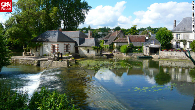The Indre River runs through Azay-le-Rideau, serving as a natural moat for its chateau.