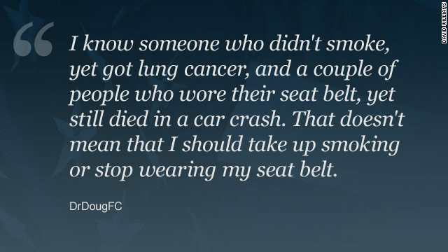 Getting a flu vaccine is a preventive measure much like wearing a seat belt, one commenter says.