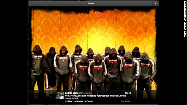 Celebs wear hoodies for Trayvon Martin
