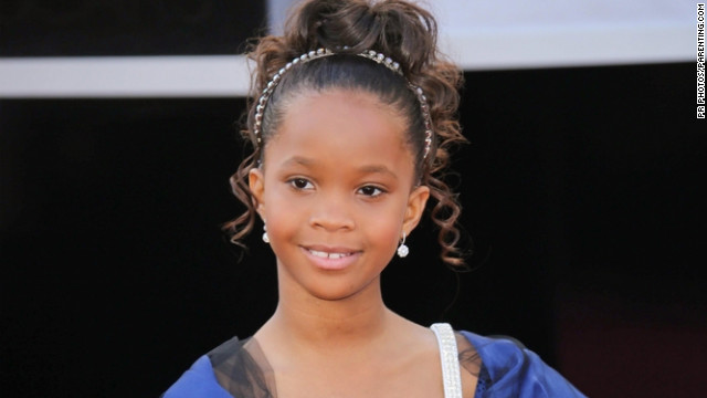 Quvenzhan Wallis on the Oscar red carpet.