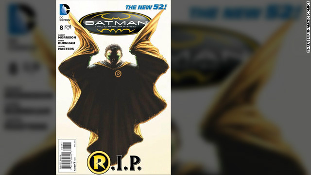 "DC Entertainment recently announced that it was killing the character of Robin in the latest issue of <a href='http://marquee.blogs.cnn.com/2013/02/26/batmans-sidekick-and-son-robin-to-die/'>""Batman, Incorporated.</a>"" Damian Wayne, Bruce Wayne's son, has been Robin since 2006. However, it's not the first time a Robin has died in the ""Batman"" comics; that also happened in 1988 with Jason Todd (who has since been resurrected). Indeed, the late 1980s and early 1990s had their share of major plot twists, but there seem to be a lot more of them lately. Robin's death is just the latest in a number of headline-grabbing developments in superhero comic books of recent years. (DC Entertainment is owned by Time Warner, which owns CNN.)"