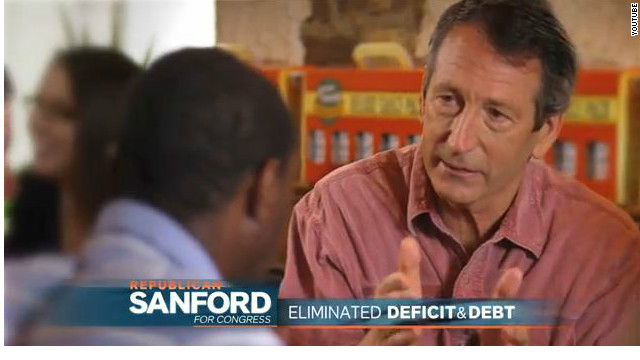 Sanford features record in second TV ad