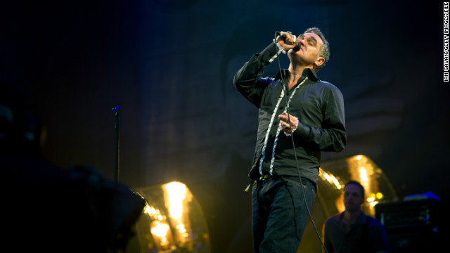 Morrissey performs during the 2011 Glastonbury Festival on June 24, 2011 in Glastonbury, England.