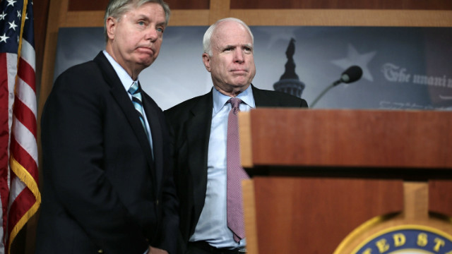 Image result for scary mccain graham