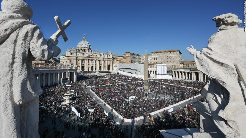 La última audiencia de Benedicto XVI
