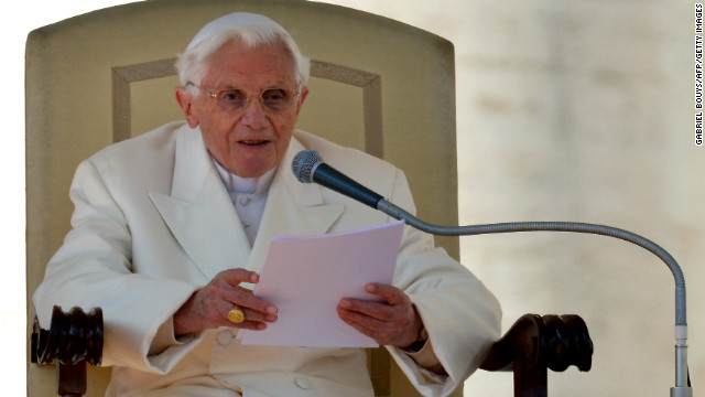 The pope delivers his blessing. Benedict recounted how when he was asked to be pope eight years ago, he had prayed for God's guidance and had felt his presence &quot;every day&quot; since.