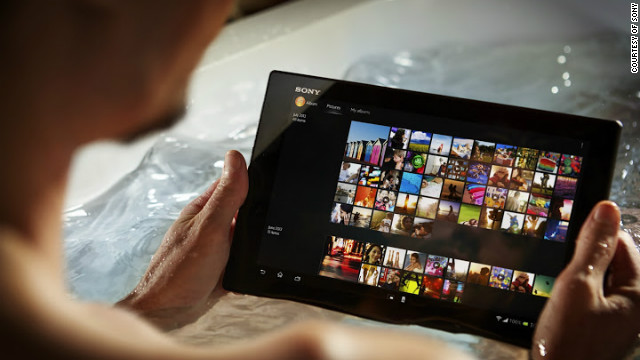 Sony's Xperia Tablet Z is waterproof, making it ideal for using in the bath or outdoors in bad weather.