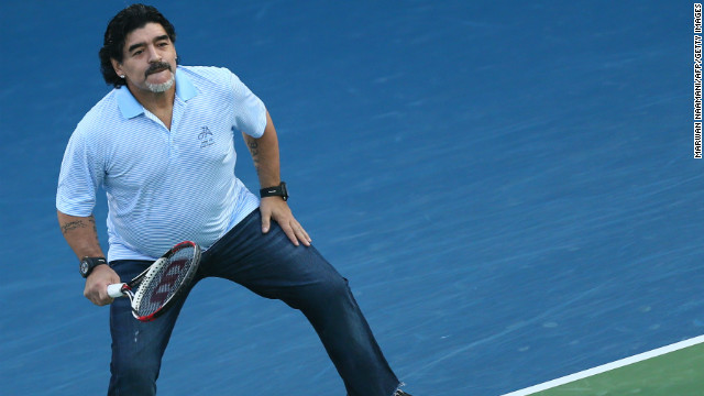 Maradona recently revealed that tennis was his second favorite sport and has visited the tournament for the past 10 years. He showed plenty of enthusiasm as the watching crowd lapped up his presence.