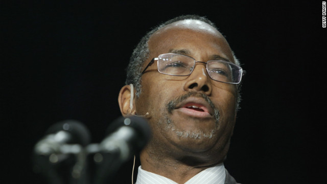 Carson under fire over homosexuality comments