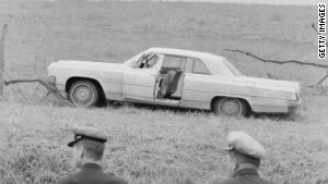 Viola Liuzzo was murdered in this car on an isolated Alabama highway while she participated in a voting rights campaign in Selma, Alabama.