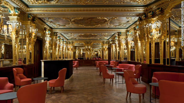 The opulent Louis XVI decor and detailing of Caf Royal, which opened in December 2012 and is nestled between Soho and Mayfair, is the work of British architect David Chipperfield.