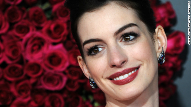 Hathaway at the premiere of &quot;Valentine's Day&quot; at Grauman's Chinese Theatre in Hollywood in February 2010.