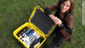 Laura Stachel with solar suitcase