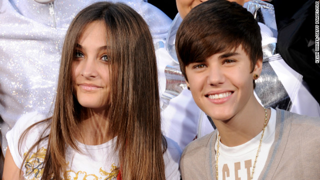 "Bieber had some of the ""most influential hair"" of 2011 and also was ranked as one of the most charitable stars. Here, he showed off his style with Paris Jackson at the Michael Jackson hand and footprint ceremony at Grauman's Chinese Theatre in Los Angeles."