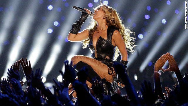 Beyonce's sexy Super Bowl halftime outfit drew outrage from conservatives and animal rights groups.