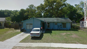 This is a Google street view of the house taken before the sinkhole opened up.