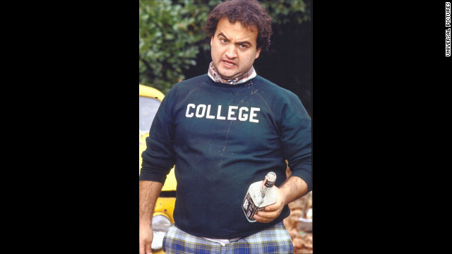 """Animal House"" left most college-bound students wishing they could apply to Faber and pledge Delta Tau Chi. John Belushi, shown here, played Bluto, famous for his 0.0 GPA and lines like, ""Seven years of college down the drain,"" ""My advice to you is to start drinking heavily"" and, of course, ""Toga! Toga!"" ""Animal House,"" a cultural touchstone, taught us many lessons, including that <a href='http://www.youtube.com/watch?v=bK-Dqj4fHmM' target='_blank'>""fat, drunk and stupid is no way to go through life.""</a>"