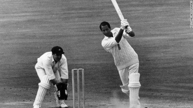 "Basil D'Oliveira, affectionately known as ""Dolly,"" played 44 Tests for England, scoring 2,484 runs at an average of 40 and taking 47 wickets with his right-arm medium-pace bowling."