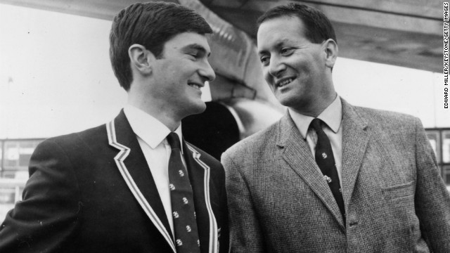 Pictured alongside fellow England player Alan Knott, D'Oliveira became an integral part of the international setup after making his debut against the West Indies in 1966. He scored his first century against India the following year, but it was his historic innings of 158 against Australia in August 1968 which sent shock waves through the cricket world.