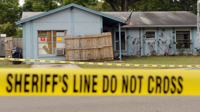 Police tape surrounds a home where a sinkhole opened beneath the bedroom of Jeff Bush in Seffner, Florida, on Friday, March 1. Sinkholes caused by acidic groundwater corroding the limestone or carbonate rock underground are common in Florida, according to the Florida Department of Environmental Protection. Take a look at sinkholes throughout the world.