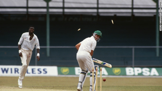 South Africa did not play international cricket from 1970 to 1991 after being hit with sanctions in a bid to defeat apartheid. It returned with two one-day games in India before competing at the 1992 World Cup in Australia. That year it returned to Test match cricket, playing the West Indies.