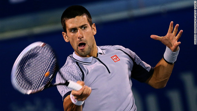 World No.1 Novak Djokovic powered his way to another ATP title against Tomas Berdych in Dubai on Saturday.