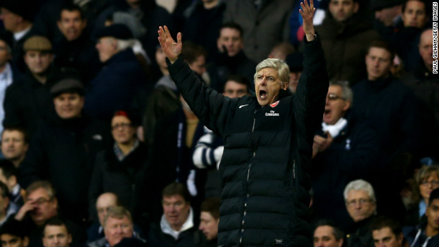 Arsenal manager Arsene Wenger was left frustrated as his side slumped to defeat and left their hopes of reaching next year's Champions League in jeopardy. The Frenchman's team is seven points behind rival Tottenham, while it sits five points off fourth place Chelsea