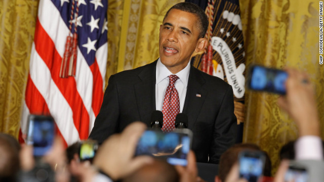 President Barack Obama hosts a reception in honor of national Gay, Lesbian, Bisexual and Transgender Pride Month in the East Room of the White House June 15, 2012 in Washington, DC.