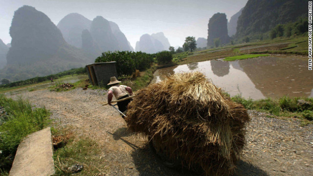 Photographers also trekked to China's Guangxi Province to capture the impressive terrain.