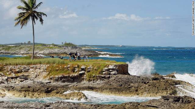 The scenic Exuma Islands in the Bahamas provided a more conventional backdrop for one of the Sports Illustrated swimsuit shoots.
