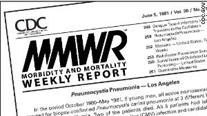 The first mention of HIV appeared in the CDC\'s Morbidity and Mortality Weekly Report on June 5, 1981.