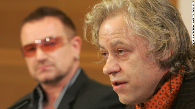 Singer Bob Geldof, alongside fellow Irishman Bono, has been a prominent advocate for anti-poverty efforts in Africa. In 1984, he helped found the charity Band Aid to raise money for famine relief in Ethiopia. And he organized the Live Aid concert the following year.