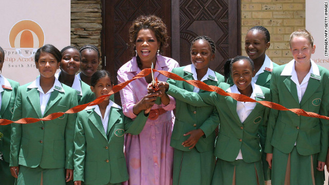 In 2004, Oprah Winfrey documented her travels to South Africa, where she brought attention to young children who are affected by HIV/AIDS and living in poverty. Her trip brought in $7 million in donations from around the world. Three years later, Winfrey established the Oprah Winfrey Leadership Academy for Girls for students from disadvantaged backgrounds.