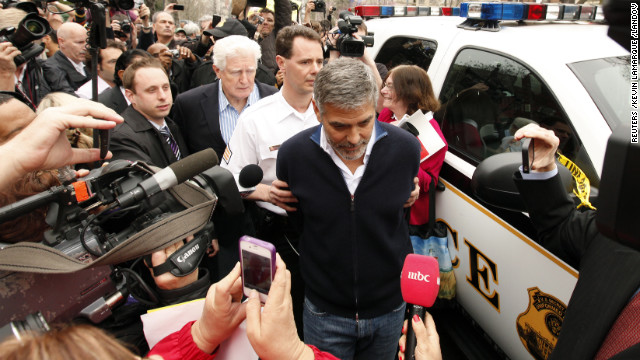 "In 2012, actor George Clooney was arrested for civil disobedience during a protest outside the Sudanese Embassy. Clooney has advocated vehemently for a resolution of the Darfur conflict and appeared in the documentary ""Darfur Now."""