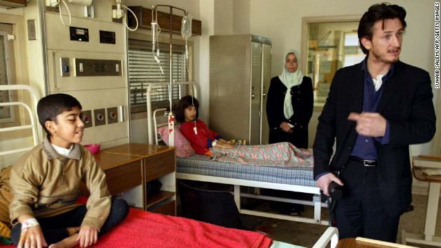 In 2002, a year before the war in Iraq began, actor Sean Penn met with Iraqi Deputy Prime Minister Tariq Aziz and paid a visit to al-Mansour Children's Hospital in Baghdad. Aziz says Penn spoke very strongly against aggression against Iraq by U.S. forces. In 2007, Penn also visited Chavez, to whom he penned a letter criticizing Bush.