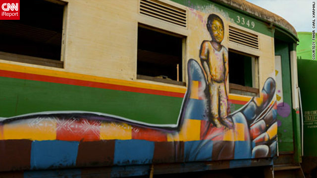 Graffiti, social media, artwork -- Kenyans have used many methods to promote peace in the elections.