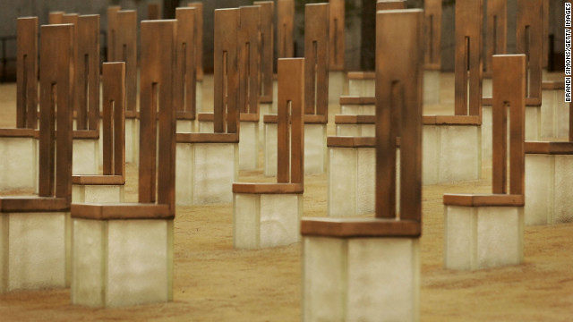 A memorial marks the site of the Oklahoma City bombing. Other anti-government attacks could be on the horizon, say experts.