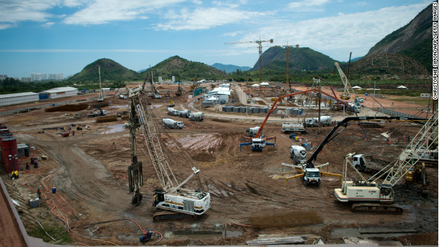 The construction site of the future Olympic village for the Rio 2016 Olympic games in Barra de Tijuca, Rio de Janeiro, Brazil on November 20, 2012, Brazil. 