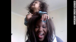 Bunmi Laditan and her daughter Tali