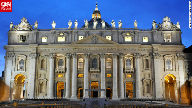 St. Peter's Basilica is built upon Vatican Hill across the Tiber River from central Rome. <a href='http://ireport.cnn.com/docs/DOC-804650'>iReporter Irene Fanizza</a> snapped this photo in September 2011.