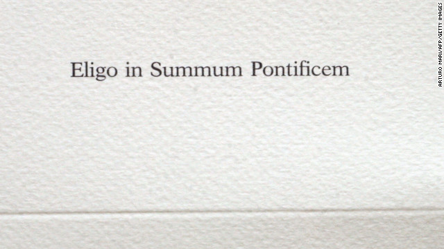 A blank voting ballot at the 2005 conclave.