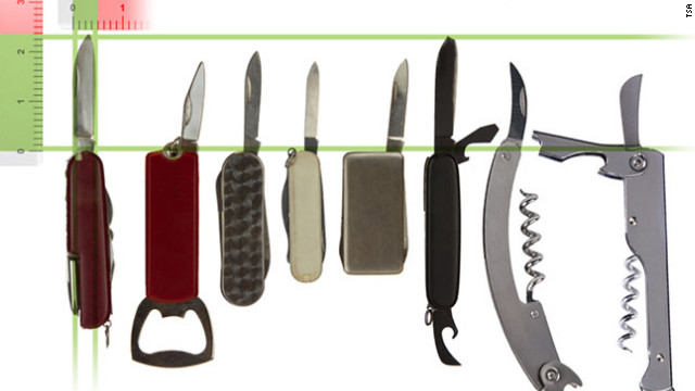 TSA rules on knives, sports equipment