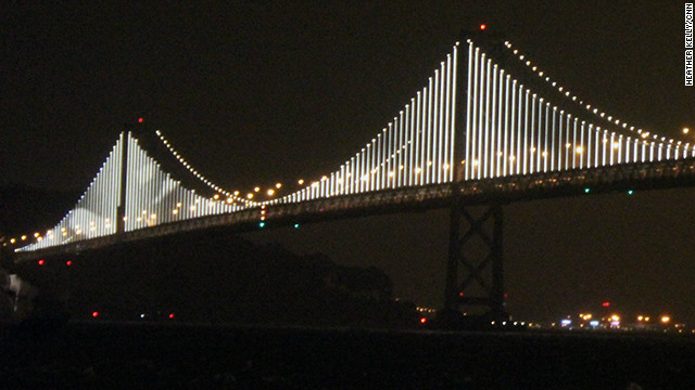 There are 300 vertical cables covered in LED lights on the Bay Bridge.