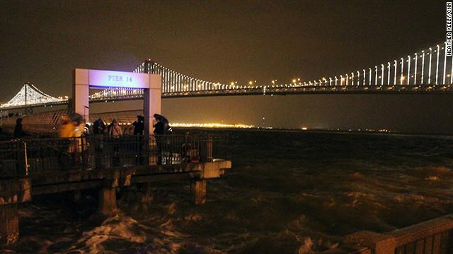 The artist Leo Villareal programmed the bridge's animations based on the movement around the area.