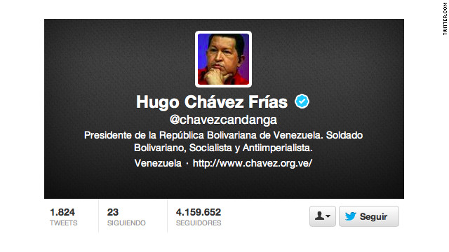 "@chavezcandanga, el presidente que ""revolucionó"" Twitter"