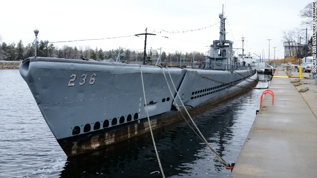 The World War II USS Silversides Submarine was saved from the scrapyard by a group of former Navy personnel who towed it to the Muskegon Channel in Michigan in 1987.
