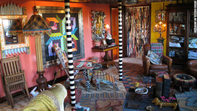 "SS Yankee's unique bohemian interior is the work of artists Richard and Victoria Mackenzie-Childs. ""People expect to see a stale museum, but Yankee has a great richness in her structure and history. Her interior is just another one of her smile wrinkles,"" Victoria said."