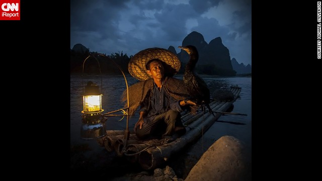 In a traditional Chinese method, a fisherman uses a cormorant to catch fish. Learn how man and bird work together on <a href='http://ireport.cnn.com/docs/DOC-863878'>CNN iReport</a>.