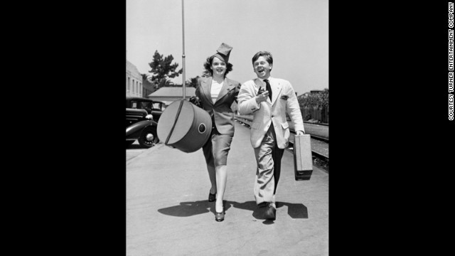 Judy Garland and Mickey Rooney set out for a &quot;Wizard of Oz&quot; tour at a Pasadena, California, train station in 1939.